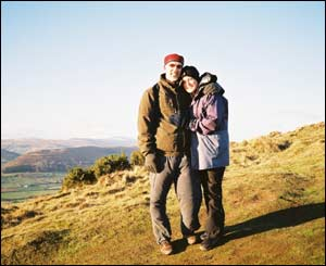 Peter Bourne, from Pontypool, sent in this picture of her sister-in-law, Judith Lewis, with her American boyfriend Russ on top of the Skirrid mountain in Monmouthshire
