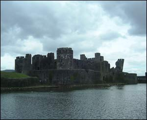 Paul Mason took this view of the impressive towers of Caerphilly Castle