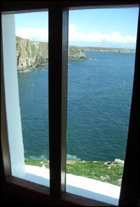 The view from inside South Stack lighthouse, Anglesey (Alun Jones, Cardiff)