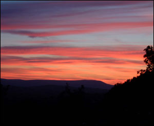 Sunset over the Blorenge, taken from Llanishen, Chepstow, by George Weston