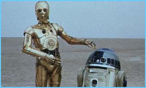 C3PO, left, with R2-D2