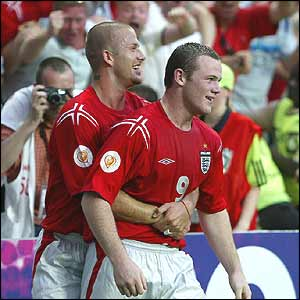 David Beckham and Wayne Rooney