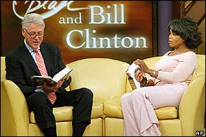 Clinton reads from his book on the Oprah Winfrey Show