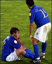 Antonio Cassano and Gianluca Zambrotta