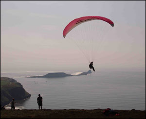 Sonja Kappe from Llantrisant sent in this shot of Kate taking off in Rhossilli