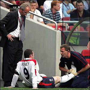 Rooney receives treatment