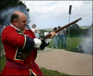 Bill Harriman demonstrating historic firearms at the BASC Wales Country fair, Bodelwyddan Castle, Denbighshire (Simon Clarke)