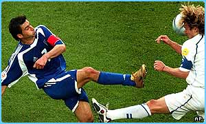 Greece are in the final of Euro 2004