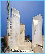 Daniel Libeskind's design for the World Trade Centre area