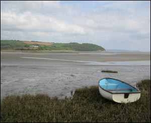 Arwel Lewis captured this view across the Tywi Estuary at Laugharne