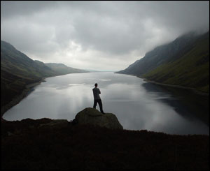 This dramatic shot from the end of Llyn Cowlyd Reservoir was sent in by keen walker Andy Miller