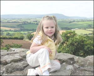 Katherine sitting on the tower at the White Castle in Monmouthshire (Mrs J Wilson, Newport)