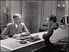 Anthony Eden speaking at the first Party Political Broadcast on the BBC, 1951