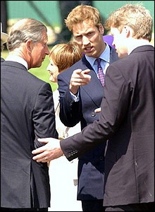 Prince Charles, Prince William and Earl Spencer