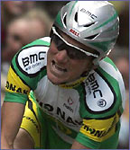 Tyler Hamilton in action at the 2004 Tour