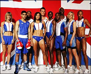 Members of Team GB pose in their kit