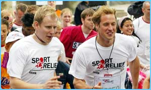 Wills with TV's Patrick Kielty