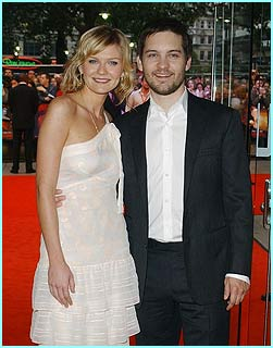 Stars Kirsten Dunst and Tobey Maguire hit Leicester Square's red carpet
