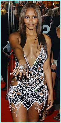 But the biggest stir was caused by singer Samantha Mumba in this dazzling diamond dress, worth  a whopping �5m!