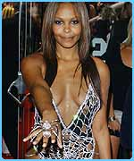 Samantha Mumba in her �5m diamond dress