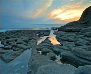 Sunset at Southerndown Beach, as taken by Gerwyn Gibbs