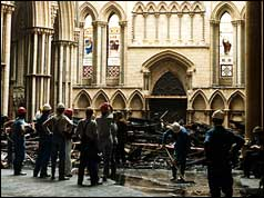 Damage to York Minster