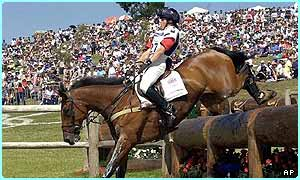 Pippa Funnell rides for Britain in the Equestrian event