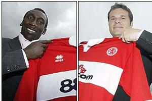 Mark Viduka and Jimmy Floyd Hasselbaink join Middlesbrough