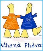 The mascots for the 2004 Olympics