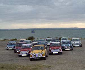 A meeting of minis at West Shore, Llandudno, sent by Wendy Artiss from Rhyl