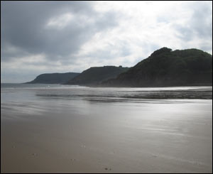 Peter Jenkins took this view of Caswell Bay while visiting his family in Swansea