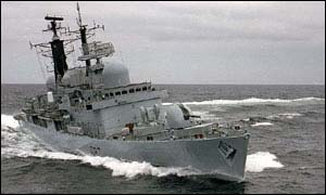 HMS Newcastle is one of the Royal Navy's longest serving destroyers and has seen action in the Gulf and Kosovo