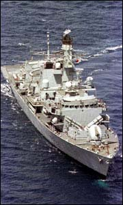 HMS Marlborough in 1999 helped to recover 9bn tonnes of cocaine