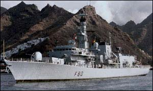 HMS Grafton was used in the television drama drama Making Waves