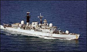 HMS Cardiff provided relief to Belize in 2000 in the wake of Hurricane Keith