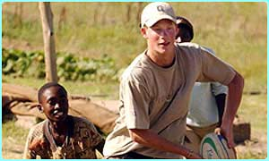 Harry playing rugby in Lesotho