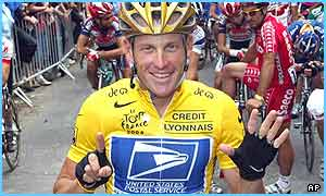 Lance Armstrong has won six Tours
