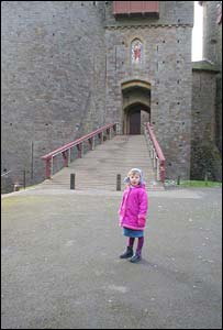 Tony Monger's granddaughter, Sophie, taken outside Castell Coch