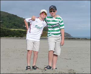 William and Tom at Poppitt Sands, nr St Dogmaels, sent by Hugh Sims