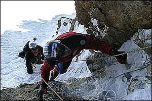 Mountaineers on K2 in 2004