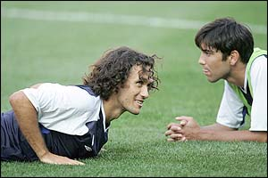 Chelsea central defender Ricardo Carvalho's and right back Paolo Ferreria