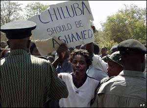 Anti-Chiluba protester in 2002