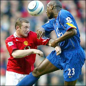Wayne Rooney and Sol Campbell lock horns
