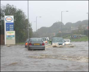 Rolf Muenter captured the weekend's floods at their height in Bangor