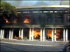 Connaught Palace shopping centre ablaze