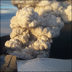 Eruption on 2 November, Icelandic Meteorological Office/Matthew Roberts