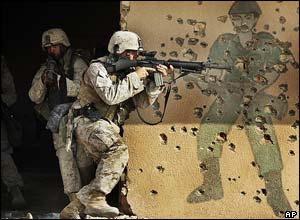 US marines training in Falluja, Iraq
