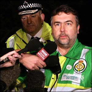 Deputy Chief Constable Andy Trotter, British Transport Police, and ambulance service spokesman Graham Coves