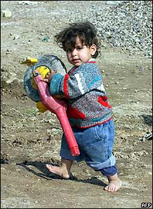 Refugee child from Falluja