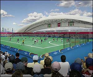 The hockey pitches would be just north of the main Olympic stadium.